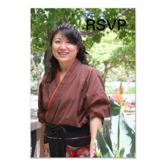 Japanese Women 3.5x5 Paper Invitation Card