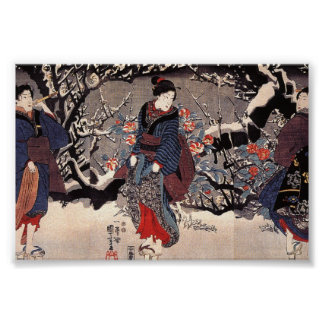 Japanese Women Painting c. 1800's Poster