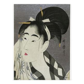 Japanese Women wiping her face Custom Flyer