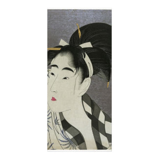 Japanese Women wiping her face Rack Card