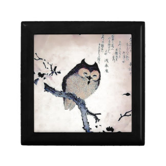 Japanese Woodblock Art Owl Print Gift Boxes