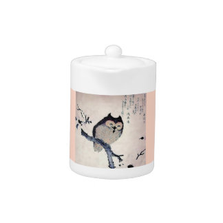 Japanese Woodblock Art Owl Print