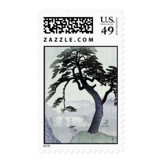 Japanese Woodblock Art ukiyo-e Postage Stamp