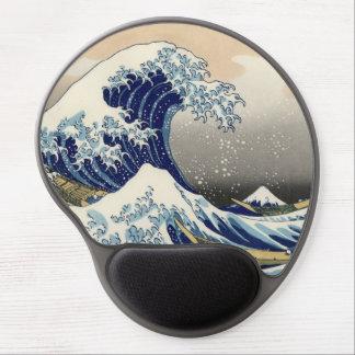 Japanese Woodblock: Big Wave off Kanagawa Gel Mouse Pad