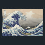 "Japanese Woodblock: Big Wave off Kanagawa Towel<br><div class=""desc"">This Japanese woodblock design depicts the big wave off Kanagawa.</div>"