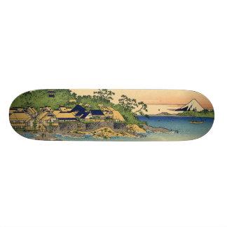 Japanese Woodblock: Enoshima in Sagami Province Skateboard