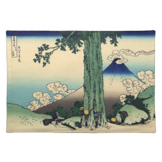 Japanese Woodblock: Mishima Pass in Kai Province Cloth Placemat