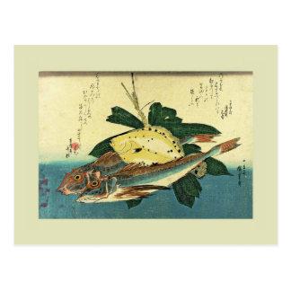 Japanese Woodblock Post Card