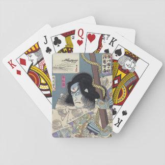 Japanese Woodblock Print by Kunichika Playing Cards