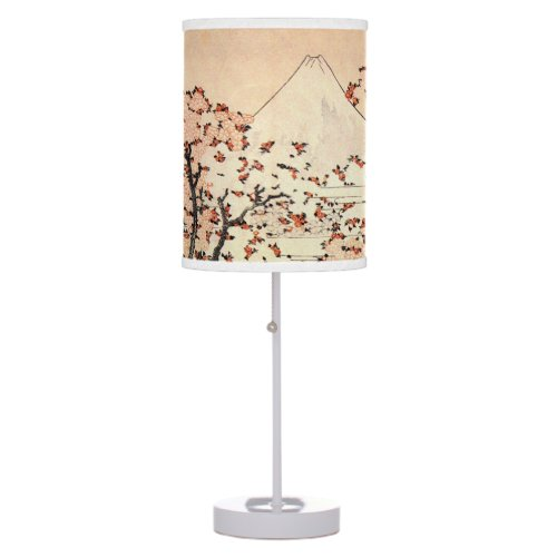 JAPANESE WOODBLOCK PRINT WITH CHERRY BLOSSOMS DESK LAMP