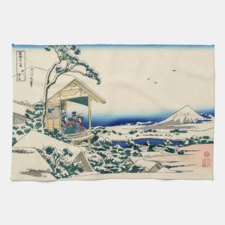 Japanese Woodblock: Tea House at Koishikawa Kitchen Towel