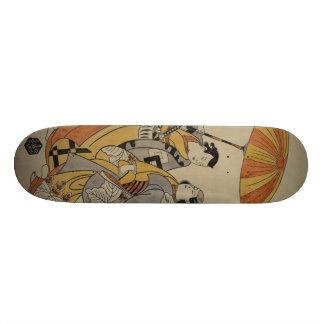 Japanese Woodcut #2 Skateboard Deck