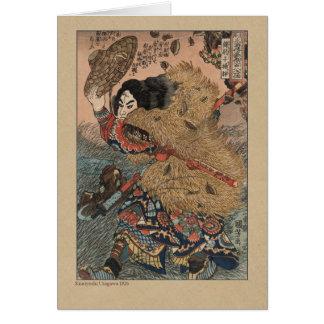 Japanese Woodcut by Kuniyoshi Utagawa Card