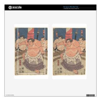 Japanese Woodprint 5 Kindle Fire Skins