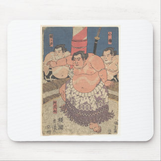 Japanese Woodprint 5 Mouse Pad