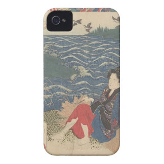 Japanese Woodprint iPhone 4 Cover