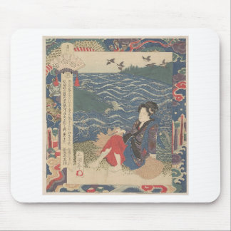 Japanese Woodprint Mouse Pad