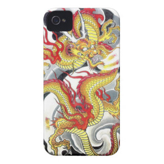 Japanese Yellow Dragon iPhone 4 Case