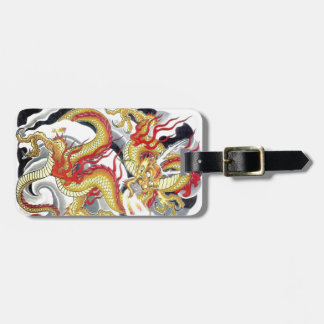 Japanese Yellow Dragon Tags For Bags