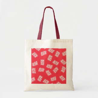 Japanese Yukata Textile, Maneki Neko (Lucky Cat) Budget Tote Bag
