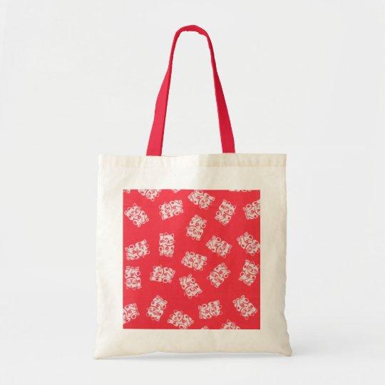 Japanese Yukata Textile, Maneki Neko (Lucky Cat) Tote Bag