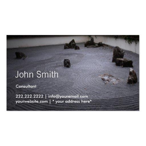 Japanese Zen Garden Consulting Business Card