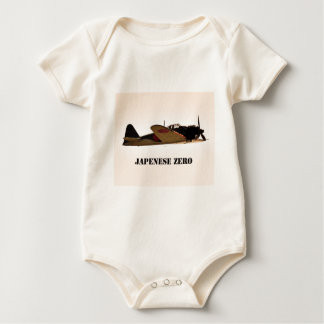 Japanese Zero World War 2 Aircraft Baby Bodysuit