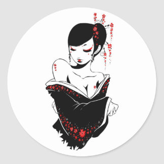 _japanesque round sticker