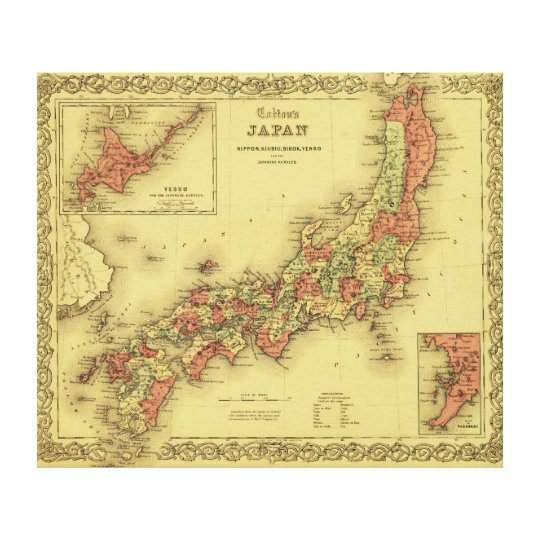 JapanPanoramic MapJapan Canvas Print