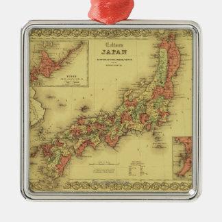 JapanPanoramic MapJapan Metal Ornament