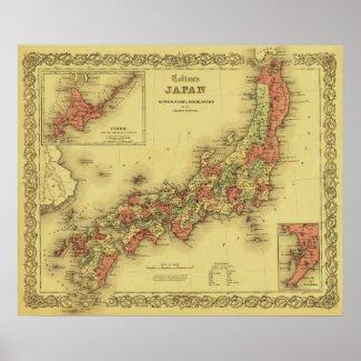 JapanPanoramic MapJapan Print