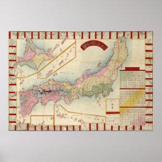 JapanPanoramic MapJapan Posters