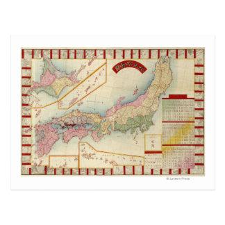 JapanPanoramic MapJapan Tarjetas Postales