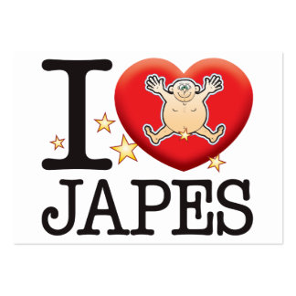 Japes Love Man Large Business Cards (Pack Of 100)