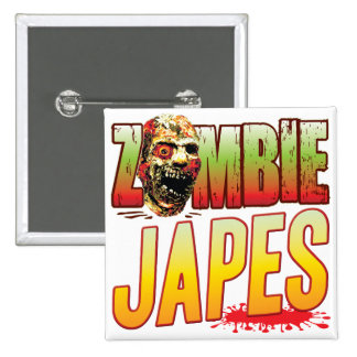 Japes Zombie Head 2 Inch Square Button