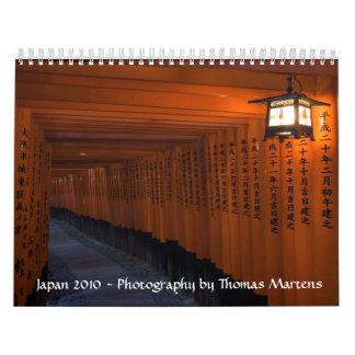 Japón 2010 calendarios de pared