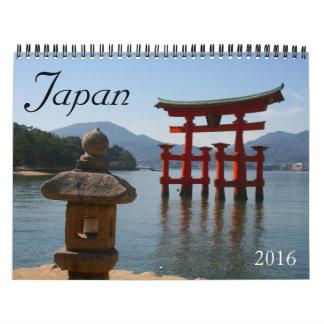 Japón 2016 calendarios