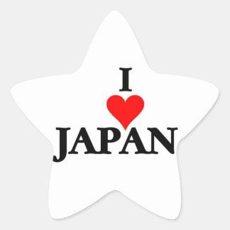 Japón - amor Japón de I Pegatina En Forma De Estrella