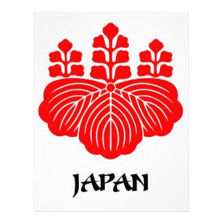 JAPÓN - emblema/bandera/escudo de armas/símbolo Membrete A Diseño