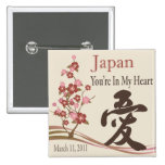 Japón está en mi imán del alivio del terremoto del pin