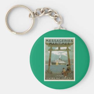 """""""Japon Extreme-Orient"""" Messegeries Maritimes Keychain"""