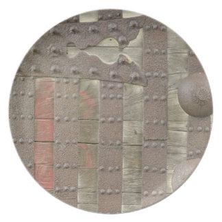 Japón, Ishikawa, Kanazawa, detalle de la puerta de Plato De Comida
