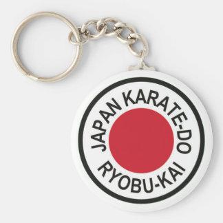 Japón Karate-Hace llavero del logotipo de Ryobu-Ka