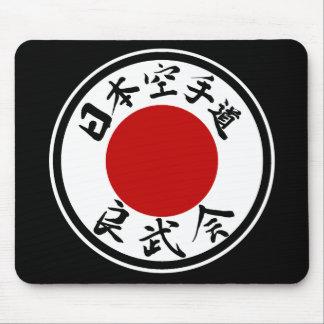 Japón Karate-Hace logotipo de Ryobu-Kai (kanji) Mo Alfombrillas De Ratón