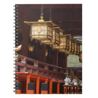 Japón, Kyoto, Fushimi, capilla magnífica 2 de Inar Libro De Apuntes Con Espiral