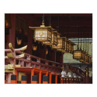 Japón, Kyoto, Fushimi, capilla magnífica 2 de Inar Poster