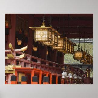 Japón, Kyoto, Fushimi, capilla magnífica 2 de Inar Póster