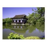Japón, Kyoto, jardín japonés de la capilla de Postales
