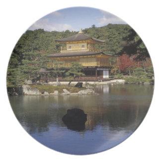 Japón, Kyoto, pabellón de oro, templo del zen Plato De Comida