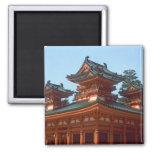 Japón, Kyoto, templo colorido de Heian Jingu, Imán Para Frigorifico